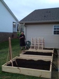 Finished Raised Bed Gardens