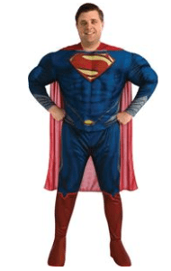 Man of Steel Deluxe Superman Plus Size Adult Mens Costume