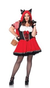 Red Riding Wolf Adult Plus Size Womens Costume