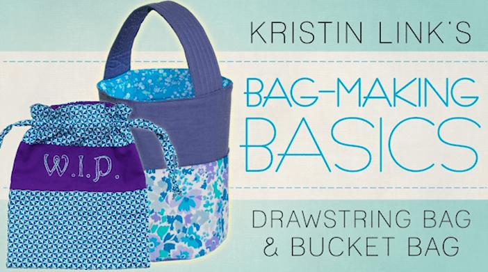 Bag Making Basics  Drawstring Bag   Bucket Bag