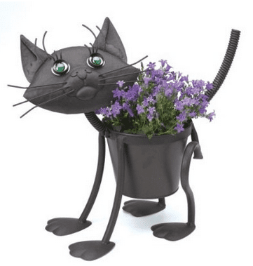 Kitty Cat Large Planter Sculpture