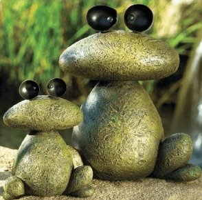 Whimsical Garden Rock Frogs