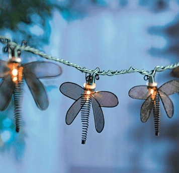 Metal Dragonfly String Lights : Super Outdoor Lighting Decor