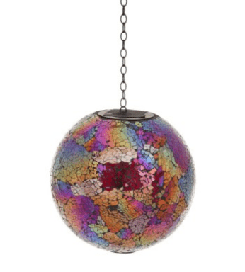Multi Mosaic Solar Hanging Gazing Ball