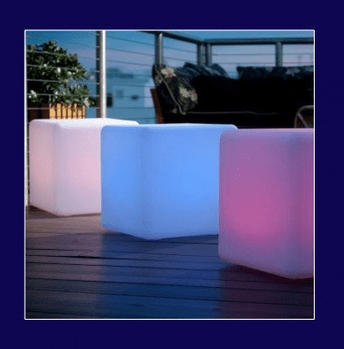 Outdoor LED Light Cube 16 Cordless with remote control