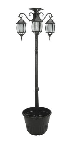 Sunergy Solar Powered 6.5  Lamp Post Planter