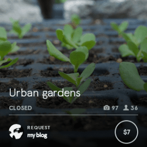 My request for custom urban garden photos at Snapwire.