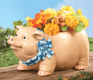 Peter Pig Garden Planter Outdoor Decoration