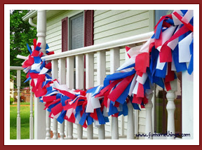 DIY Patriotic Outdoor Garland