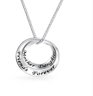 Mother Daughter Friends Forever Infinity Circlet Pendant Necklace