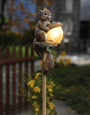 Sammy Squirrel Solar Outdoor Garden Stake Light