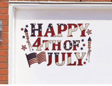 Patriotic Holiday Garage Door Magnet Set