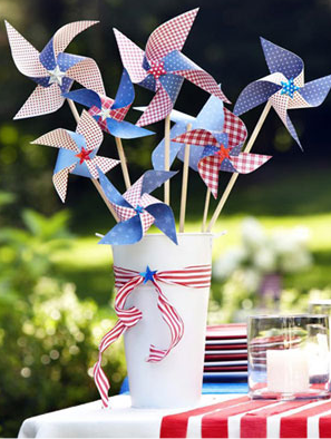 Pinwheel Crafts for Fourth of July