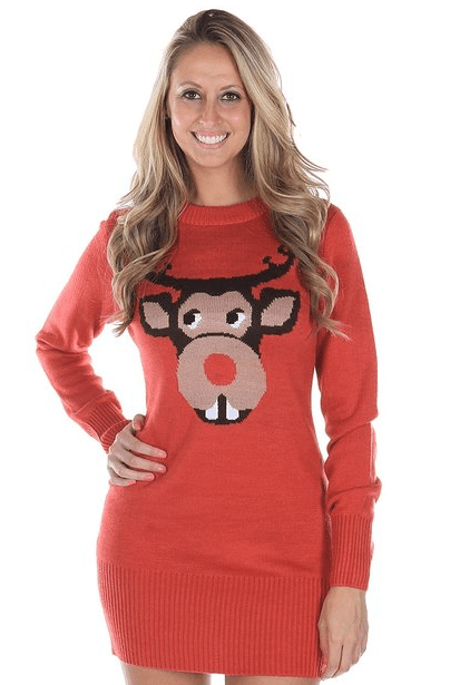Bucktooth Rudolph Christmas Sweater