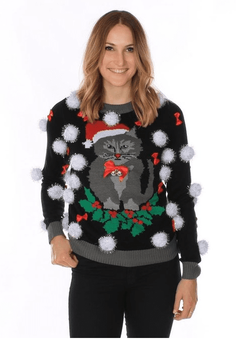 Cat Sweater with Bells