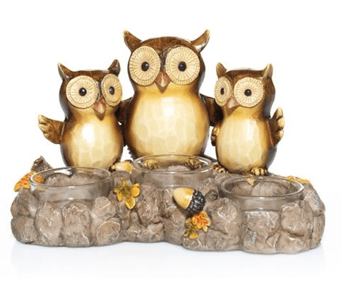 Yankee Candle Give a Hoot Triple Owl Tea Light Holder