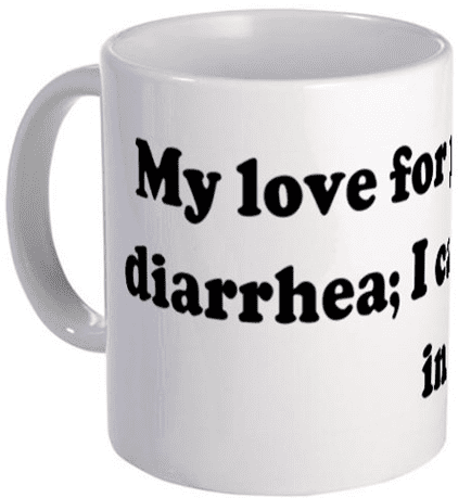 My love for you is like diarr Mug