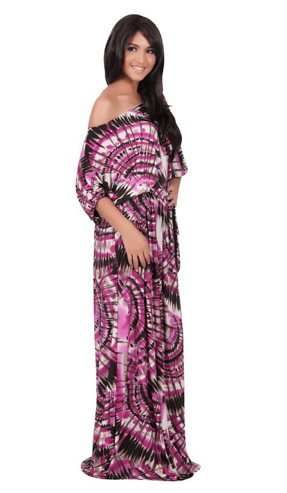 KOH KOH Women s One Shoulder Maxi Dress