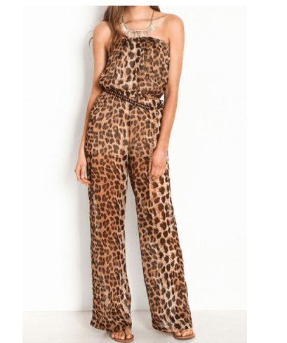 Leopard Print Women's Jumpsuits