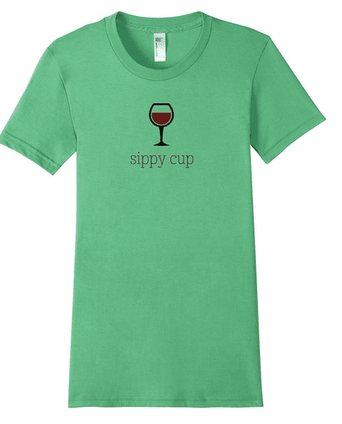 Wine Glass Sippy Cup Tee Shirt