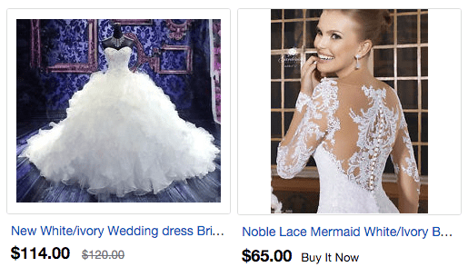 eBay Wedding Dresses