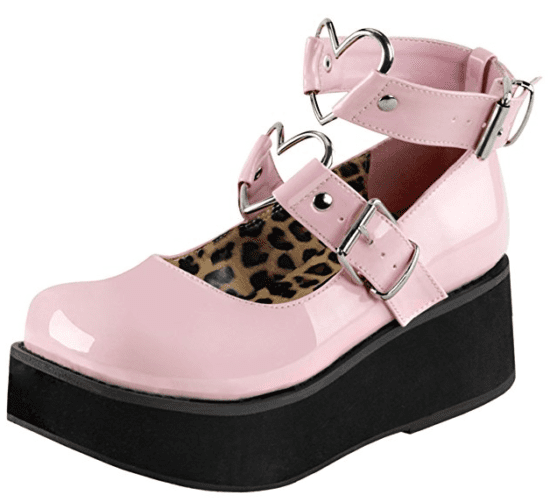 Platform Mary Janes Baby Pink $62 at Amazon.com