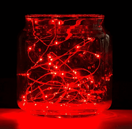 3 sets LED Moon Red Copper String Lights